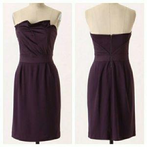 Anthropologie Deletta Ponte Fukoako Folds Dress